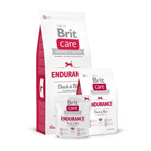 Brit Care Endurance для активных собак всех пород (Утка с рисом), 12кг (132739)