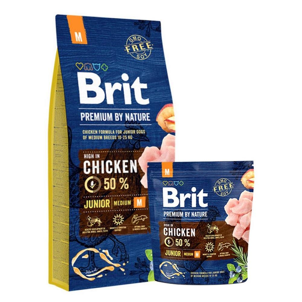 Brit Premium by Nature Junior M для щенков и молодых собак средних пород 10-25кг, 15кг (526338)